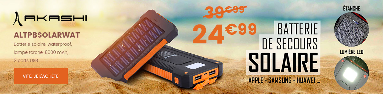 batterie solaire waterproof
