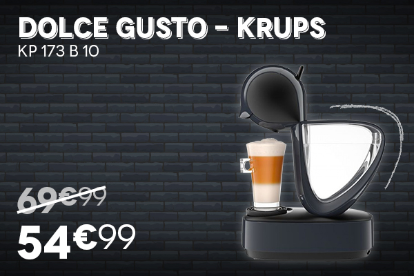 Cafetière Dolce Gusto KRUPS - Black Week Black Friday 2020 Villatech